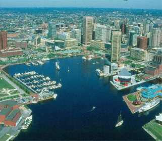 Aerial view of Baltimore (Source: CHAP)