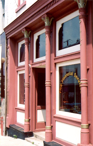 Cast iron storefronts are a common feature of Kentucky's small towns